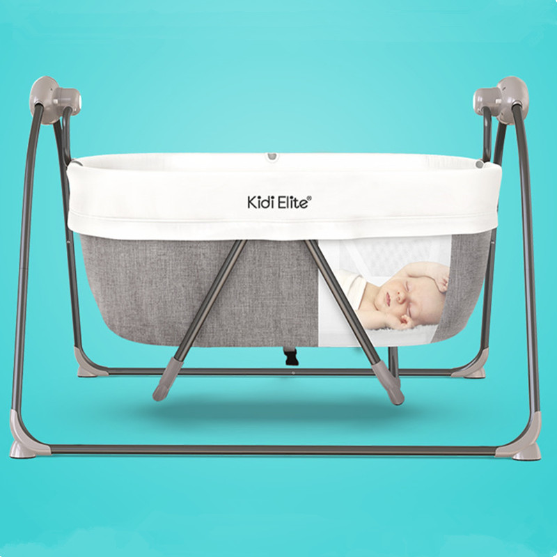 High Quality Foldable Toddler Bed Baby Crib Mosquito Net Electric Baby Rocking Baby Sleeping Basket With Bluetooth Baby Cradle