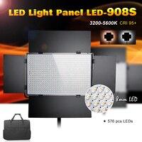 Pergear LED 908S LED Light Panel Kit 576pcs Led Light Bulbs Dimmable 3200K 5600K CRI 95