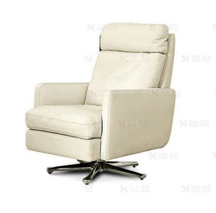 Antique European swivel chair real cow genuine real leather chair single  sofa living room home furniture leisure chair-in Living Room Chairs from ...