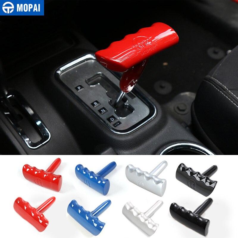 MOPAI ABS Innen T-Griff Schaltknauf Shifter Für Jeep Wrangler/Cherokee/Patriot/Chrysler 300/300c Jcuv Auto Styling