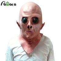 Halloween Pasen Terreur Masker Vinyl Scary Realistische UFO Alien Head Volledige Gezicht Horror Masker Voor Halloween Party Cosplay Kostuum