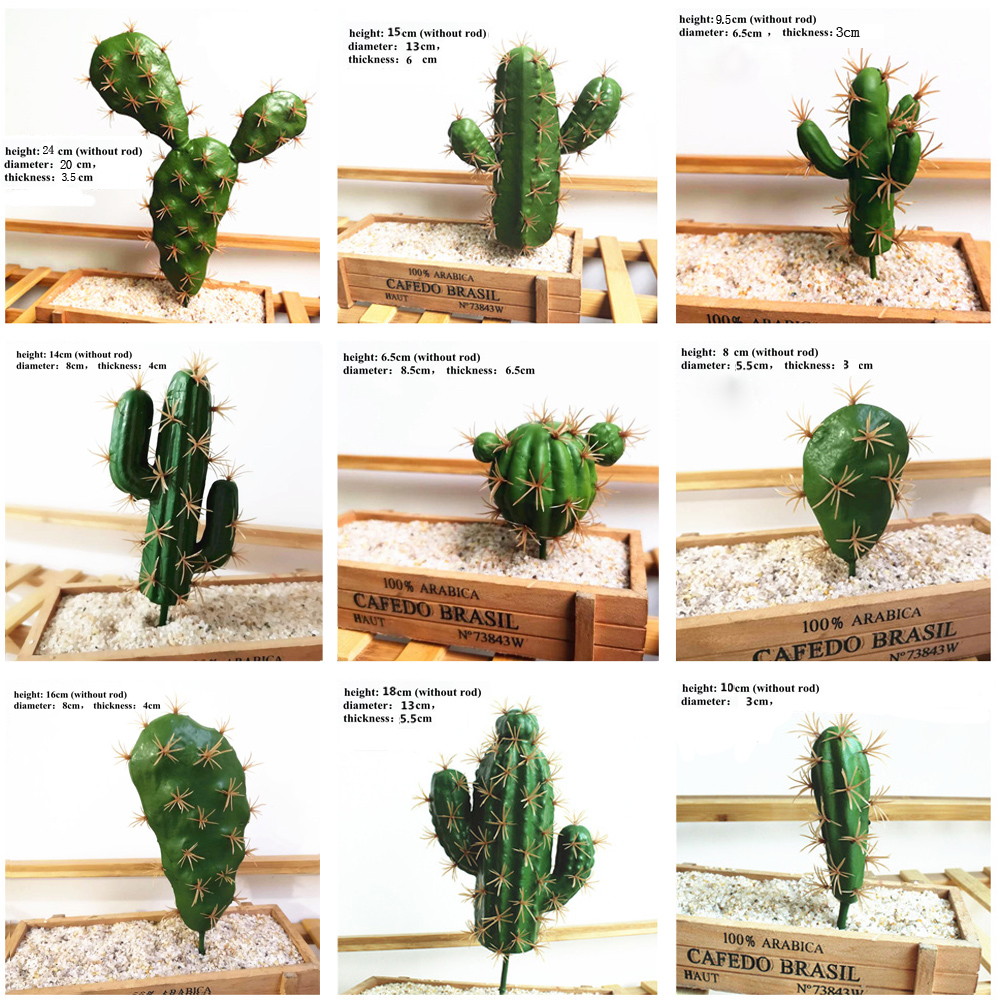 Foreign Trade Excellent Products Artificial Succulent Plant Cactus Green Plant Desktop Creative DIY Fake Plant Table Holiday 29-4