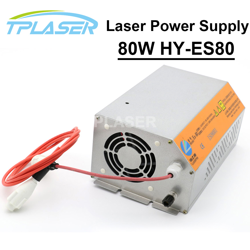 80W HY-ES80 CO2 Laser Power Supply For Laser Cutting Machine With 80w-90w Co2 Laser Tube