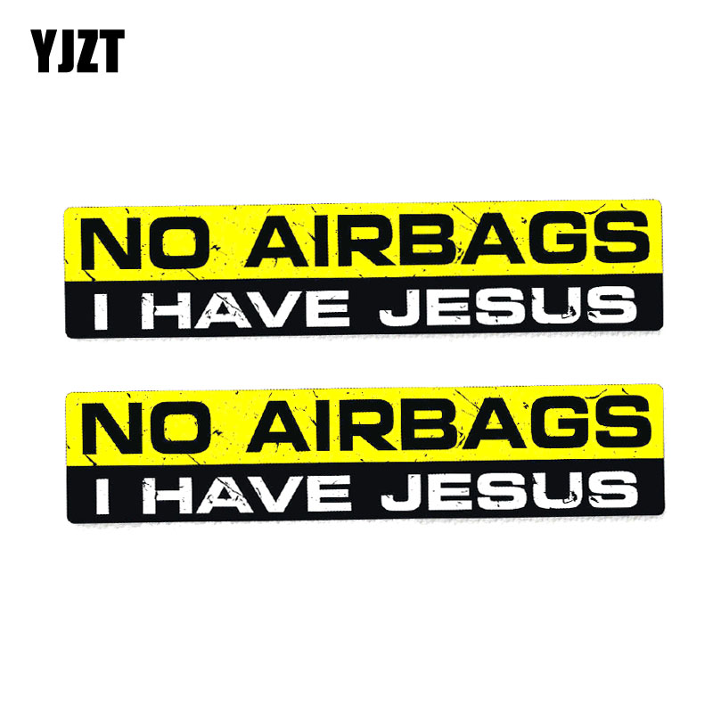 Exterior Accessories Car Stickers Considerate Yjzt 2x 15cm*3cm Pvc Funny No Airbags I Have Jesus Interesting Car Sticker Decal 12-0033 2019 New Fashion Style Online