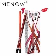 12pcs/set M.n Menow Super Matte Lipliner Pencil Lasting Waterproof Make Up Cosmetics Beauty Lips P102