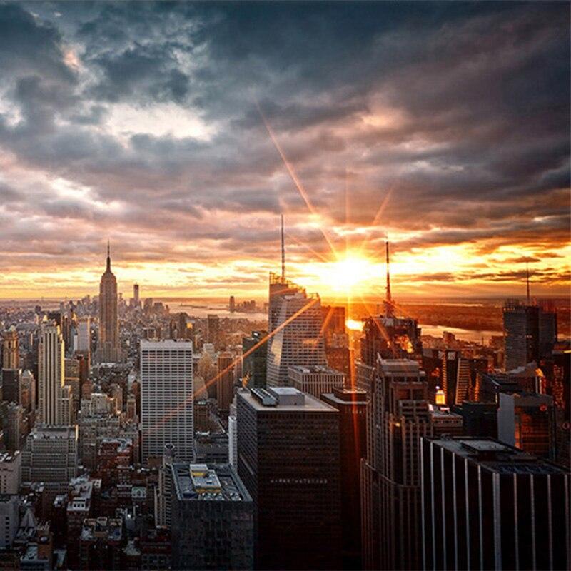 Photo Wallpaper Beautiful New York City Sunset Landscape Art
