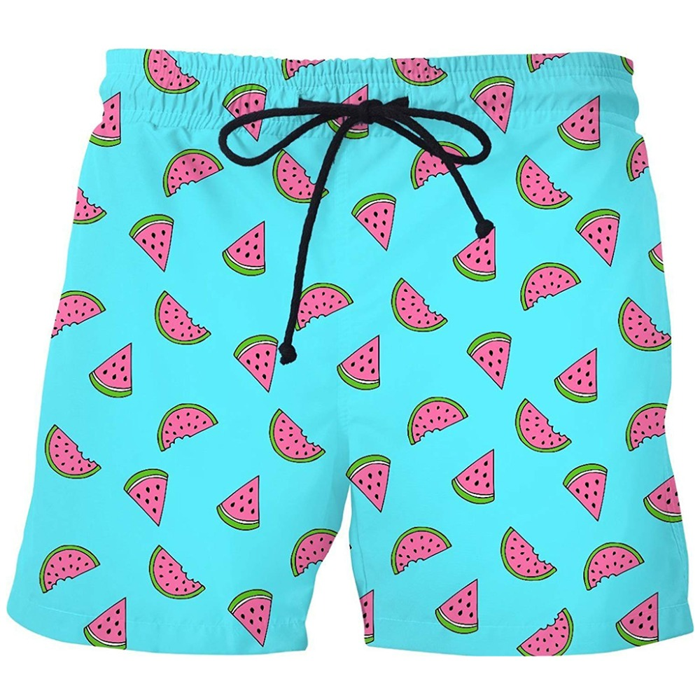 PLstar Cosmos 2018 Summer Men Casual Shorts 3d Watermelon Pineapple Banana Trousers For Women/Men Regualr Outwear Casual Shorts