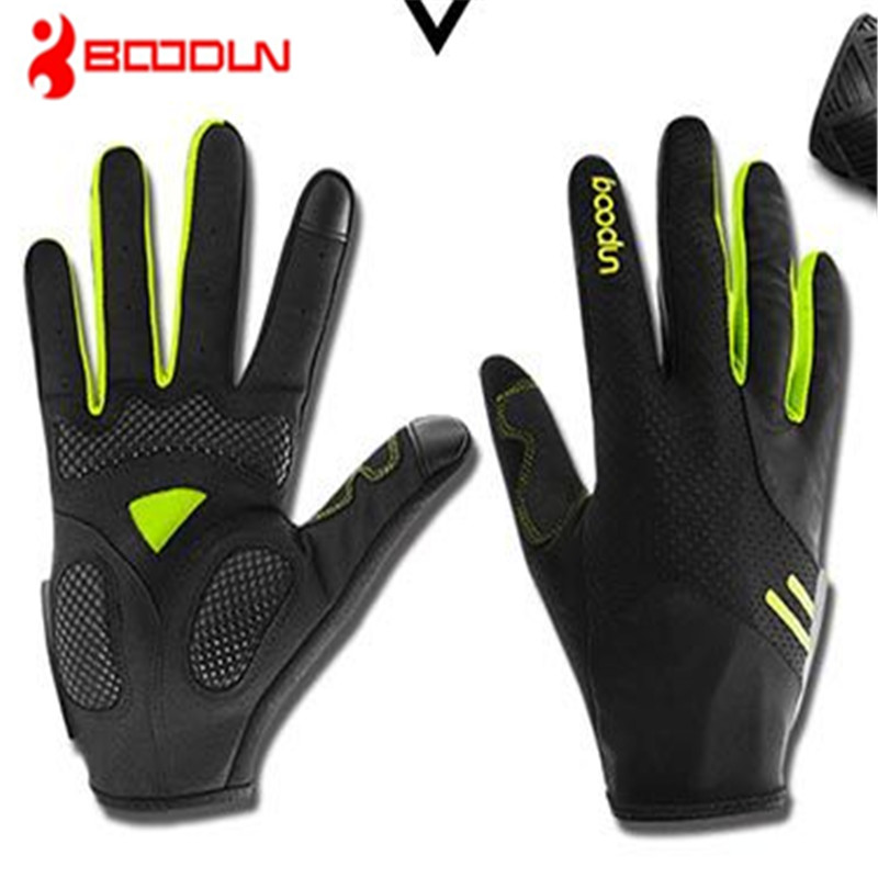 BOODUN Touch screen glove Thin section High elastic force Ventilation Long finger All means Bicycle Riding Comfortable