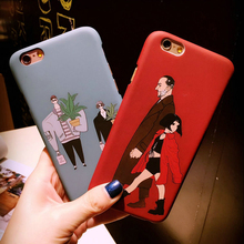 The Professional Killer Leon and Mathilda Soft Scrub Thin Phone Case For iPhone 5 5S SE 6 6S Plus