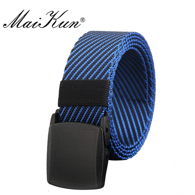 2e520836e High Quality Nylon Men s Belts Military Tactical Belt Casual Style Fabric  for Jeans Unisex Diagonal Stripe Smooth Buckle Belt