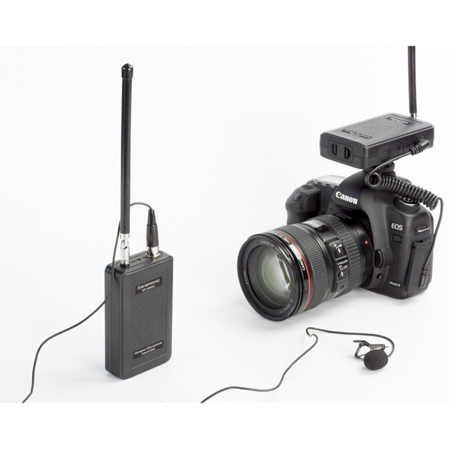 Saramonic WM4C Wireless VHF Lavalier Microphone Bundle with 1 Transmitters, 1 Receivers for DSLR Cameras