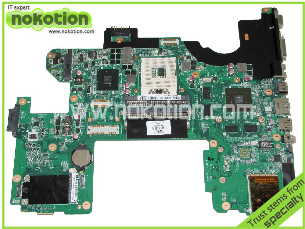 NOKOTION Laptop motherboard for HP DV8 591382-001 series DDR3 With NVDIA Video Card ddr3 Mainboard full tested