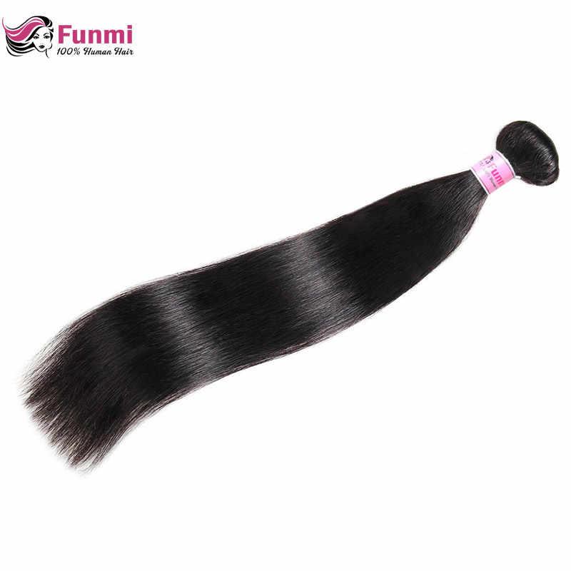 Paquetes de pelo lacio peruano 100% pelo virgen peruano sin procesar paquetes de tejido de pelo humano Funmi 1/3/ 4 paquetes