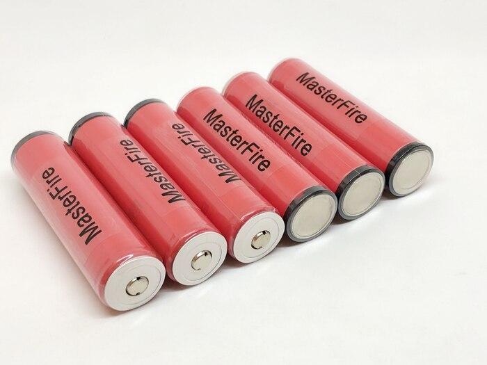 MasterFire 10 pcs/lot authentique protégé Sanyo 18650 NCR18650GA 3.7 V 3500 mAh batterie au Lithium Rechargeable 10A décharge avec PCB
