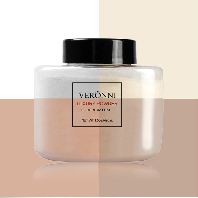 VERONNI Face Powder Makeup Matte Finish Loose Powder Natural Brighten Oil-control  Banana Loose Powder 42g 3