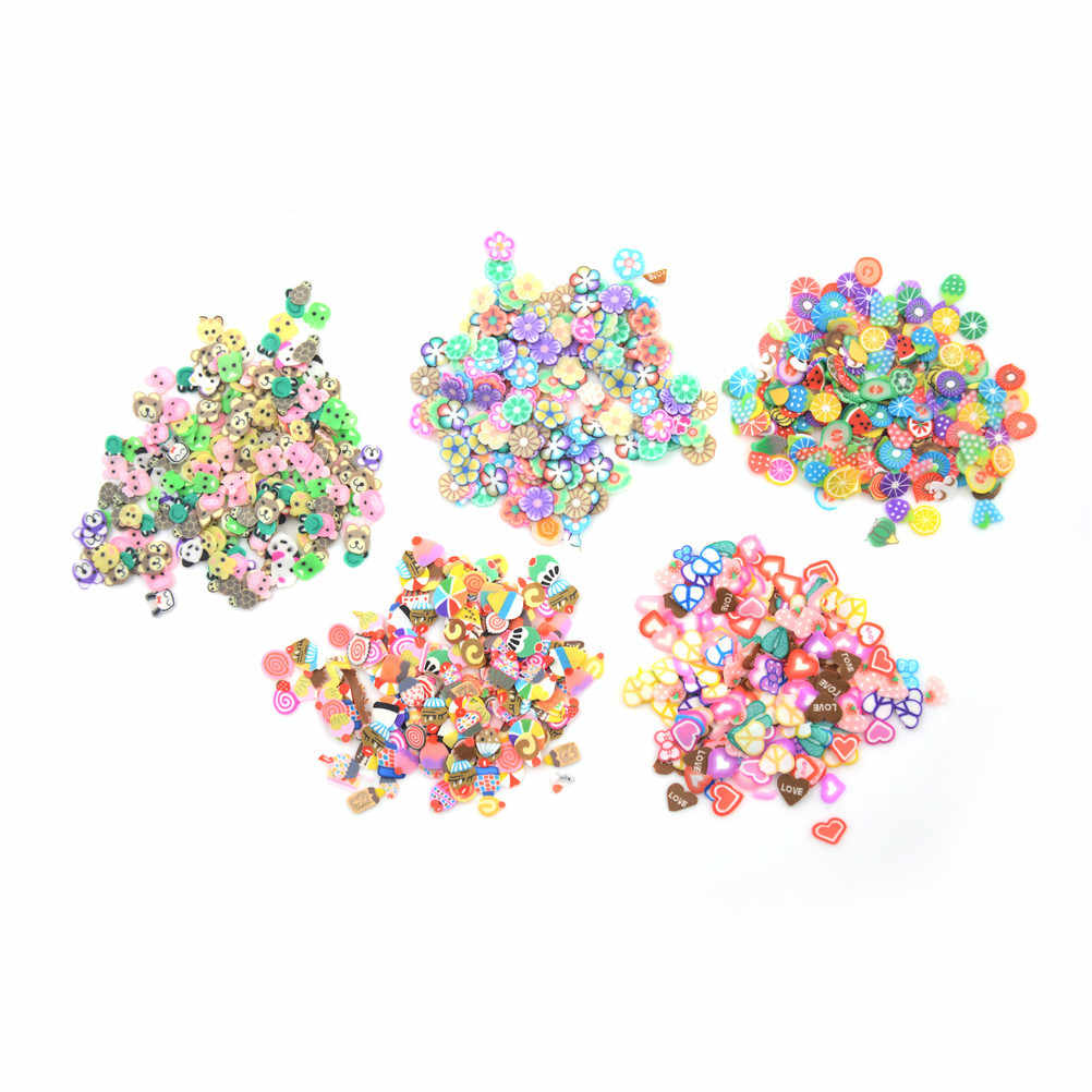 5 StylesStyles Charms for Slime Supplies Kit Fluffy Slimes Fruit Polymer DIY Clear Slime Accessories Slide Putty Clay Toys for K
