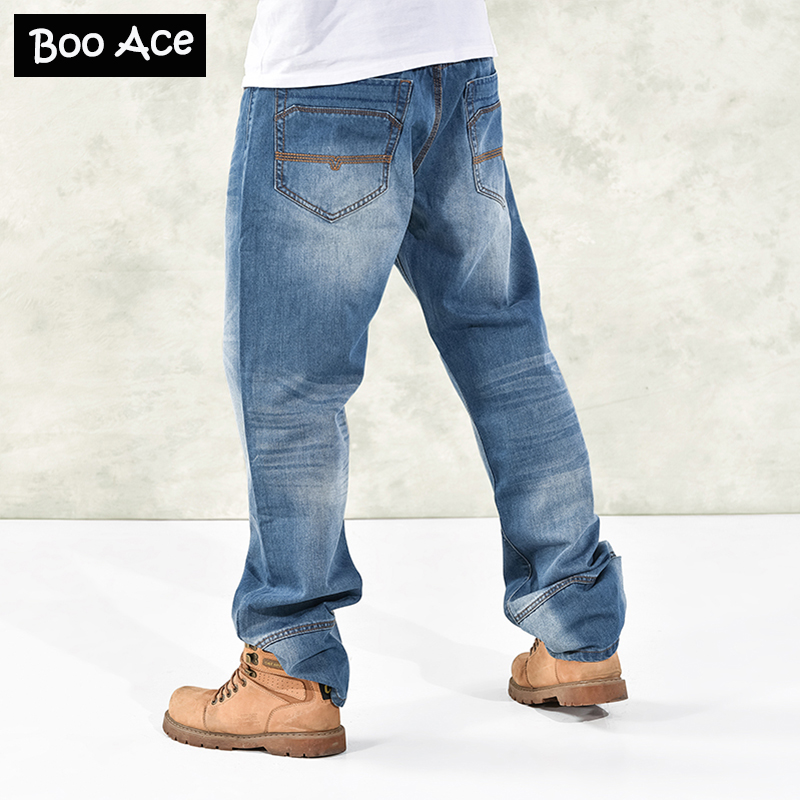 Mens Baggy Hip Hop Pants Denim Skinny Jeans Trousers for ...