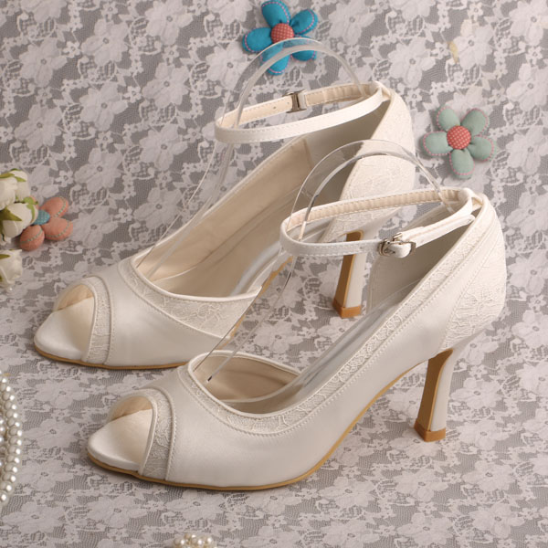 b868601c7cb Elegant Women s Evening Party Pumps Ivory Round Toe 3.5