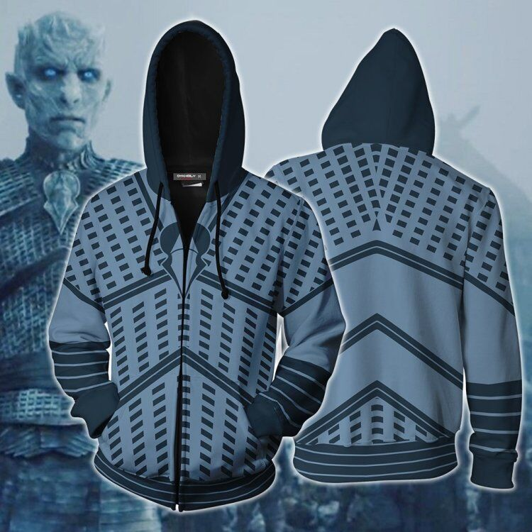 Newest Game Of Thrones Night's King Hoodies Cosplay Costumes White Walker 3D printed hoodie Sweatshirts Night's King latex Mask
