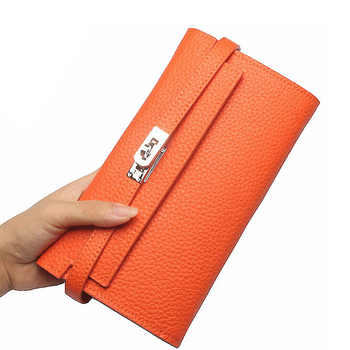 2018 Fashion leather wallet dollar price luxury purses women wallets designer high quality card holder famous brand clutch - DISCOUNT ITEM  44 OFF Luggage & Bags