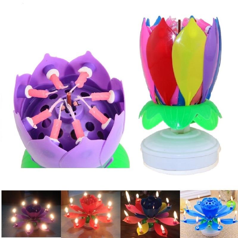 7 Parttens Vela de cumpleaños electrónica Art Candle Doble capa - Para fiestas y celebraciones - foto 2