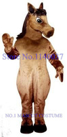 mascot Brown Mustang Horse Mascot Steed Pony Costume ADULT SIZE Anime cosplay costumes carnival fancy dress kits for school