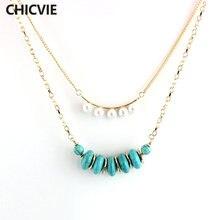 Женское винтажное многослойное ожерелье цепочка chicvie этническое