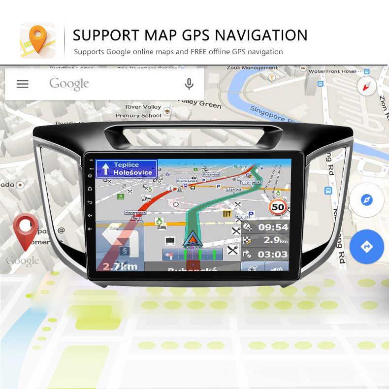 アンドロイド 8.1 車の dvd gps プレーヤー現代 Creta ix25 カーラジオとナビゲーション再生マルチメディアビデオステレオ IPS HD