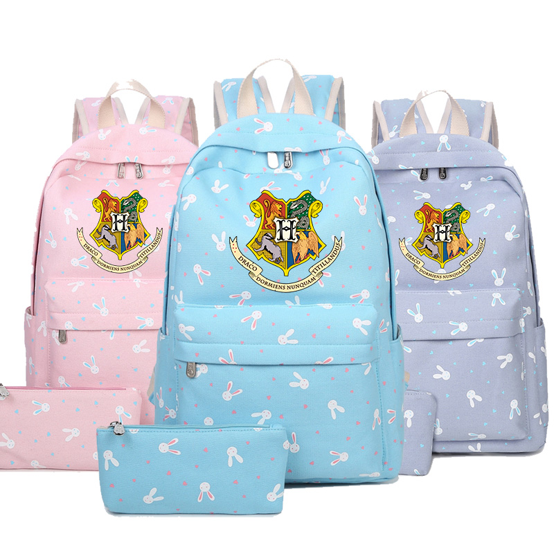 2018 new cute Fashion Harry Potter Hogwarts Backpack Students School Bags Travel Shoulder Bag for teenagers student book Bag game of thrones backpack students school bag fire glow in light backpack book bag for teenagers cartoon shoulder bag casual bag