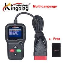 100% KONNWEI KW680 OBD2 OBDII EOBD Code reader scanner Wsparcie Wielojęzyczne KW 680 narzędzie diagnostyczne Aktualizacja Online za darmo wysyłka