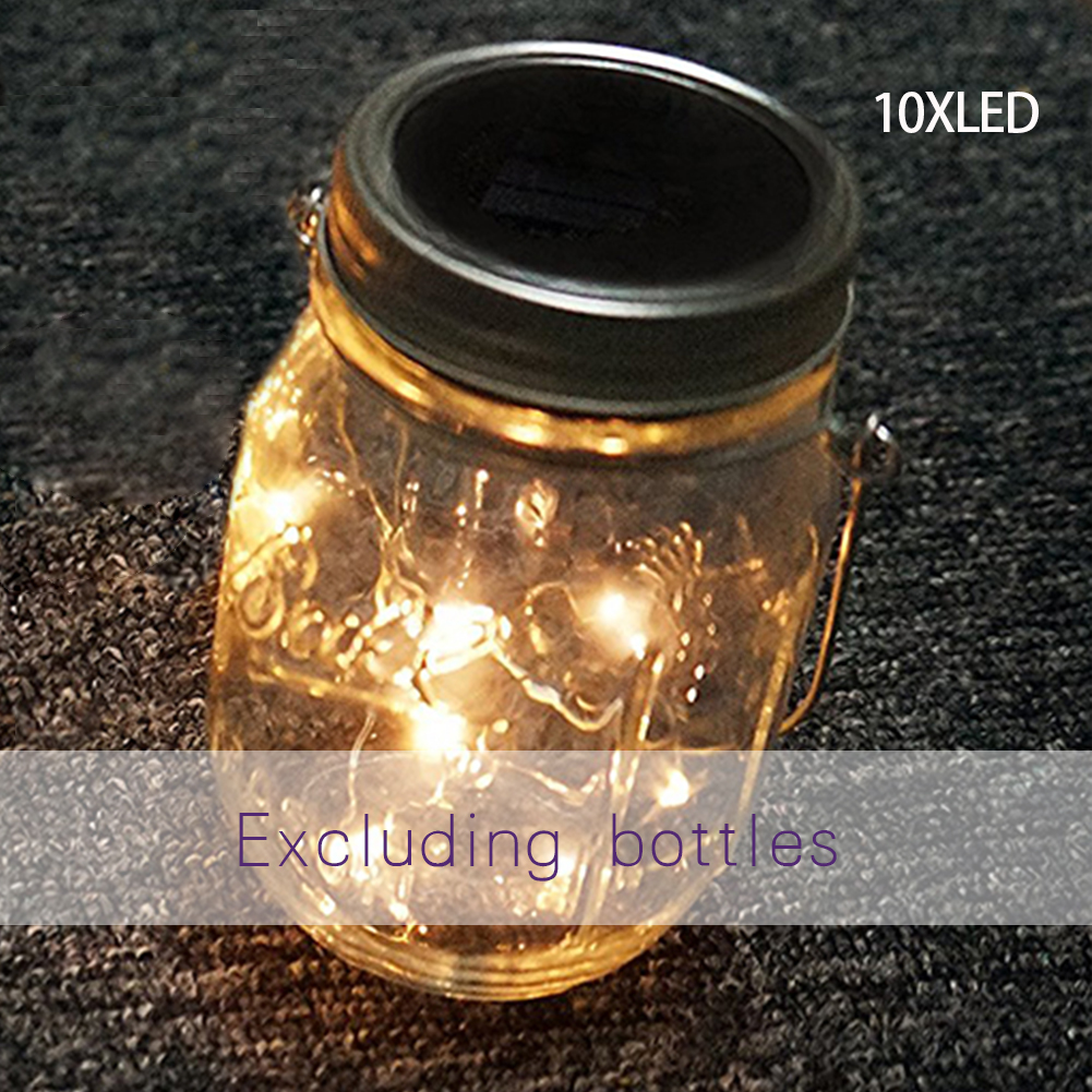 10led Chic Solar Bottle Fairy String Light Mason Jar Night Lamp For Xmas Decor 100% Guarantee Led Bar Lights