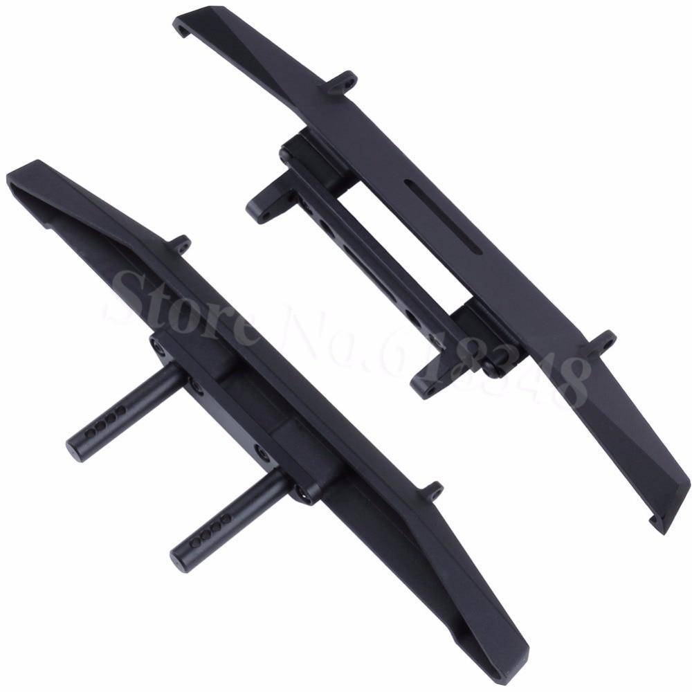 2PCS Lot Alloy Aluminum Front Rear Bumper Rock Shield Wide For Axial SCX10 II Upgrade Option