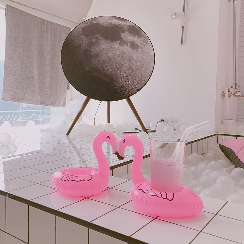 Flamingo swimming cup holder (9)