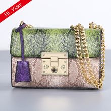 Serpentine crossbody bags women fashion snake pu leather bag 2019 Brand messenger shoulder sac a main femme