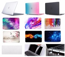 Laptop Case Notebook Tablet Shell Keyboard Skin Cover Bag Screen Film Dust Plugs For 11 12 13 15 Macbook Pro Air Touch Bar 4in1