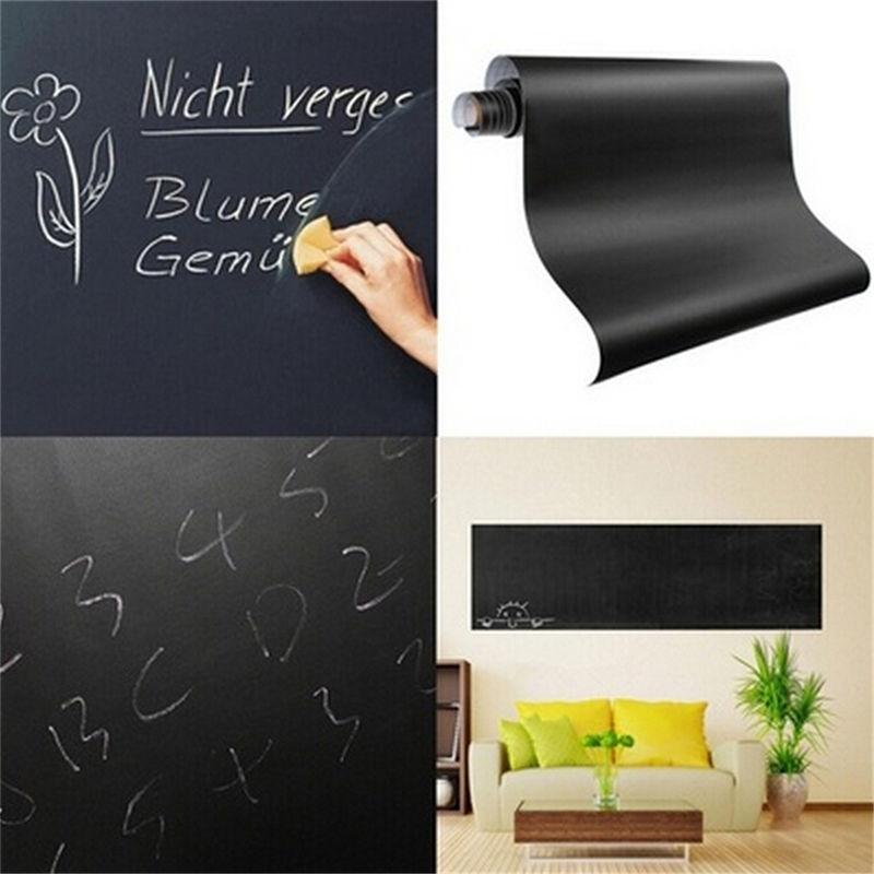 60*200 cm NEW Chalk Board Blackboard Adesivos Desenhar Decor Mural Art Decalques Vinil Removível Quadro Adesivos de Parede Em Casa suprimentos