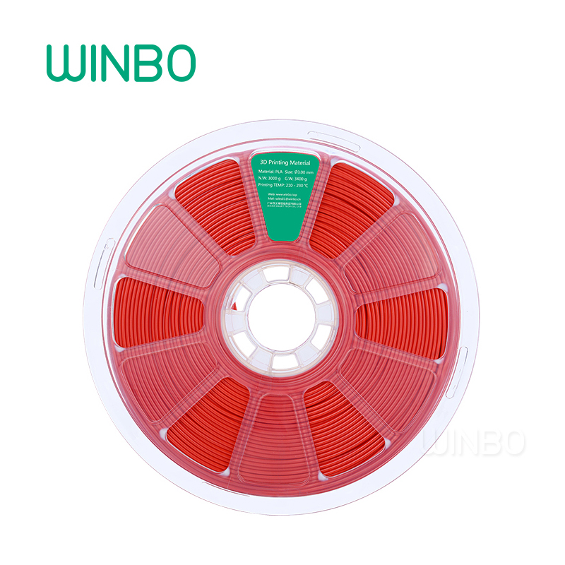 3D Printer PLA filament 3mm 3kg Red Winbo 3D plastic filament Eco-friendly Food grade 3D printing material Free Shipping 1 75mm pla 3d printer filament printing refills 10m