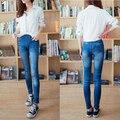 2016 hotFashion дамы женщин отпечатано имитационные летний стиль стройный джинсы эластичный Jeggings брюки леггинсы одежды 8S7Q