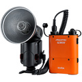 Godox witstro ad360 flash speedlite externo portátil + paquete de energía pb960 batería kit de orange para nikon