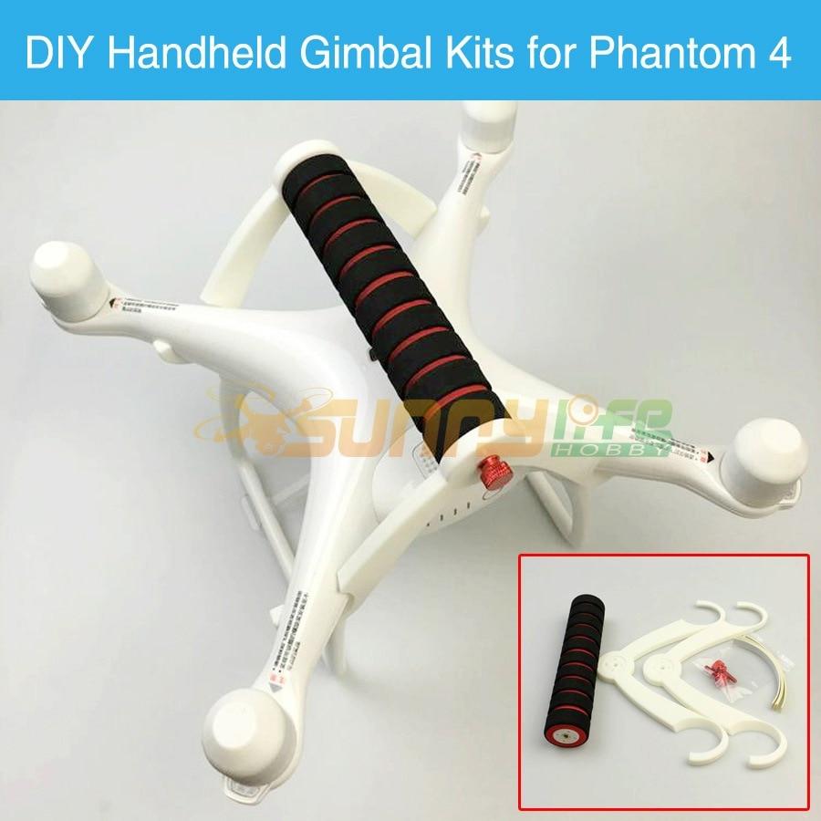 Phantom 4 Portable Handheld Gimbal Stabilizer DIY Conversion Kit Carrying Holder Bracket Accessory for DJI Phantom4