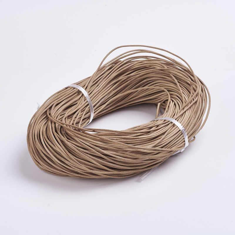 100m//Bundle Peru Natural Cowhide Leather Cord For Beading Weaving 1mm diameter