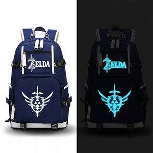 Image 1 - The Legend of Zelda: Breath of the Wild Zelda Game Backpack Canvas School Bags Travel Bagpack Laptop Backpack Zelda Bookbag