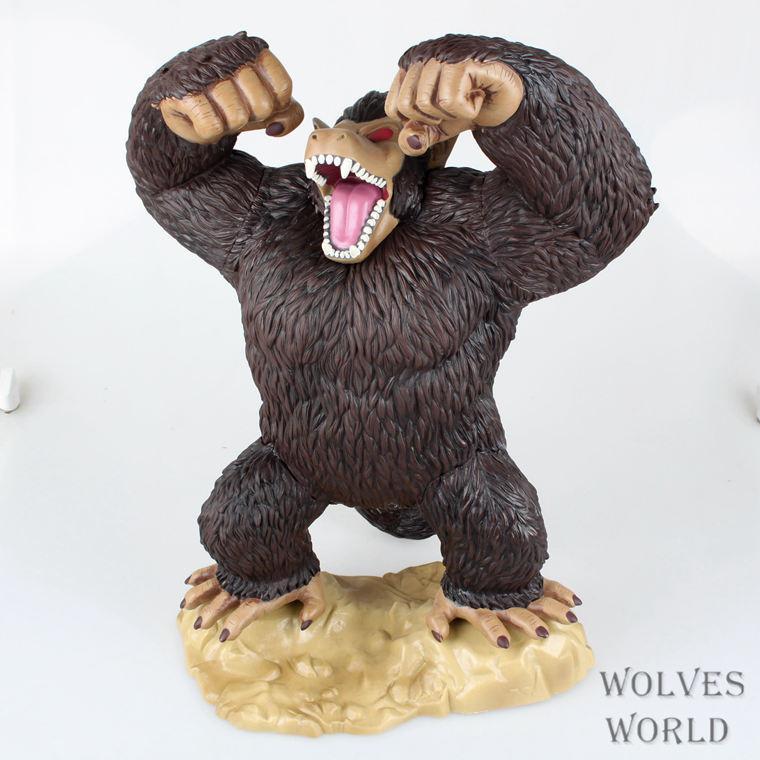 39cm Vinyl PVC Son Goku Transformation Chimpanzee Model Son Goku Gorilla Action Figure фигурка planet of the apes action figure classic gorilla soldier 2 pack 18 см