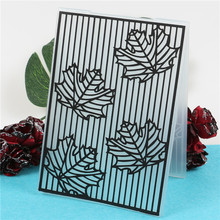 Maple leaf Stamps Plastic Embossing Folder Template For Scrapbooking Photo Album Paper Card Making