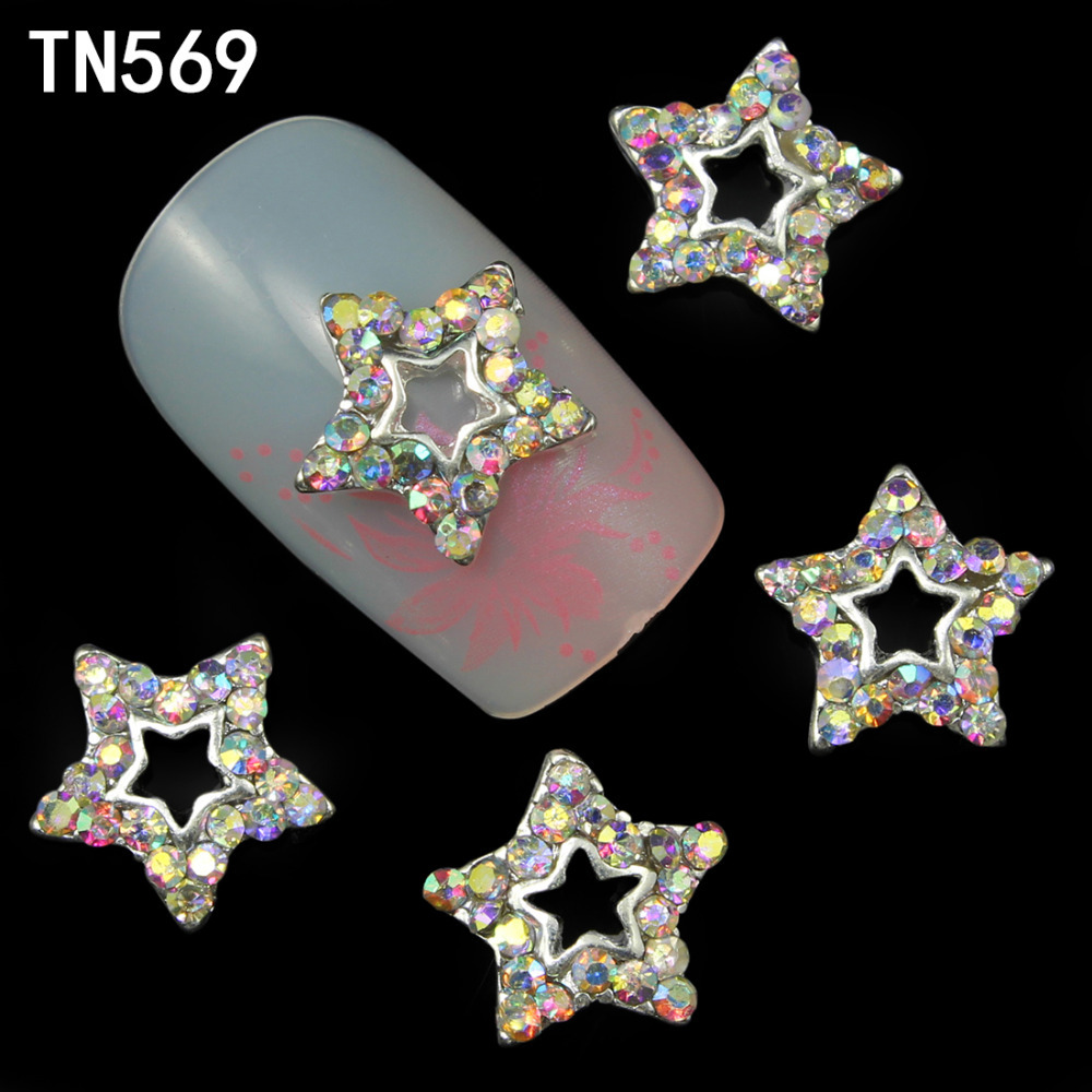 10pcs 3d AB color star glitter rhinestone for nails art decoration manicure accessories nail gems alloy decoration rhinestone bow 3d art resin nail decoration 60pcs mix candy color cute bowknot nails tip accessories phone decoration