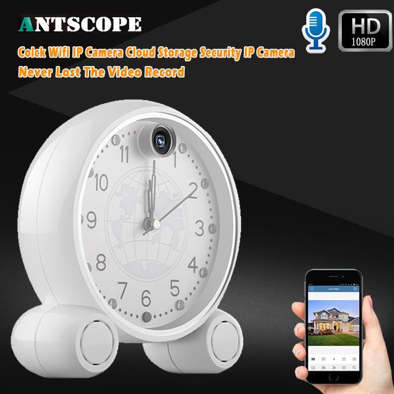 Фотография HD1080P 2MP Night Vision Wireless WIFI Clock Camera IP Remotely Monitor P2P CCTV Cam For Home Security Surveillance Cameras
