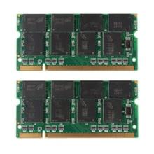 2 GB 2X1 GB DDR-333 No ECC PC2700 CL2.5 200-Pin Laptop (SODIMM) Memoria (RAM) nueva