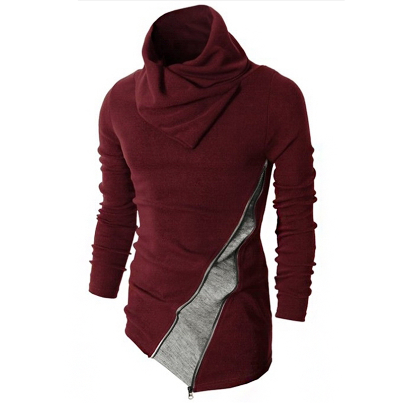 2016 Neue Ankunft Rollkragenpullover Männer Beiläufige Gestrickte Pullover Herren Langarm-pullover Blusa Masculina Mz149 Hell In Farbe