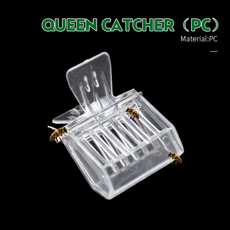 2 Pcs Bee Queen Catcher Colorless Clear Plastic Clip Cage Beekeeping Equipment Tool Beekeeper Equip Isolation Room
