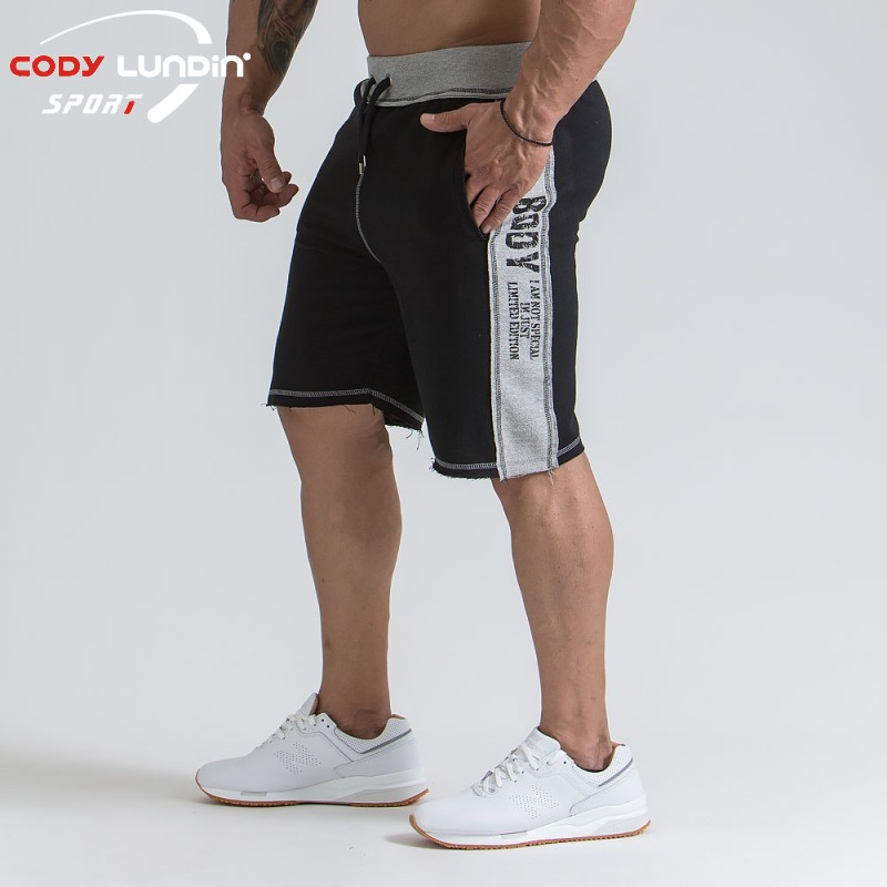 2018 New Fashion Men Sporting Beaching Shorts Trousers Cotton Bodybuilding Sweatpants Fitness Short Jogger Casual Gyms Men